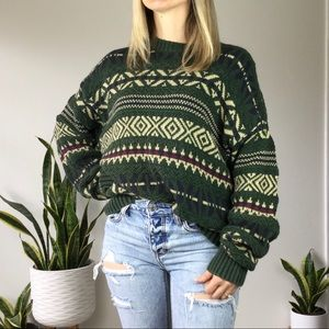 Vintage 90s textured grandpa Cosby knit sweater